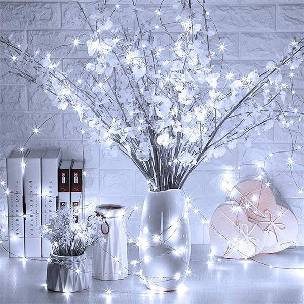 1.5M LED String Lights 32 Pack, 15 LED Waterproof Copper Fairy Lights, Cool White 5ft Battery Operated Firefly Starry Wire Lights