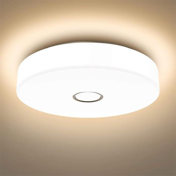18W Flush Ceiling Light 2700K Warm White Ceiling Mounted Light, CRI 90, Outdoor Ceiling Lamp for Bathroom, Bedroom