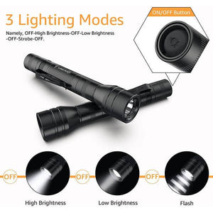 LED Torch  IP68 Waterproof Flashlight 3 Torch Modes Adjustable for Camping, Hiking, Gift