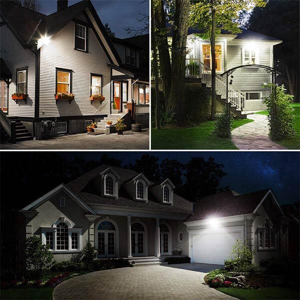 35W Security Lights with Motion Sensor 5000K Daylight White, IP66 Waterproof for Garden, Garage