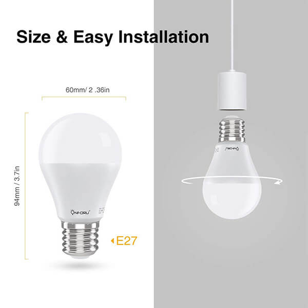 WiFi Smart Bulb 7W RGBW Bulb, B22 LED Lamp Colour Dimmable, Works with Alexa, Echo, Google Home, Voice Remote Control by App