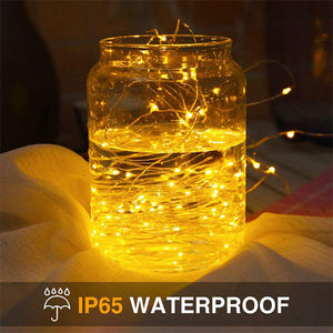 1.5M LED String Lights 32 Pack, Battery Operated Firefly Starry Wire Lights for Outdoor DIY Wedding Party