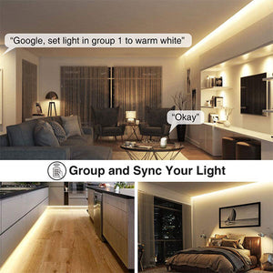 15M Alexa LED Strip Lights Smart WiFi Colour Changing Light Strip,  Works with Amazon Echo, Google Assistant for Home, TV, Party