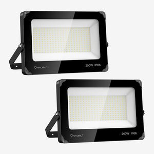 200W LED FloodLights 2 pack, 22000lm Super Bright Flood Lights, IP66 Waterproof Daylight White Wall Lights