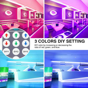 20m RGB LED Strip Lights Kit, 5050 60ft Flexible Colour Changing Lights Strip