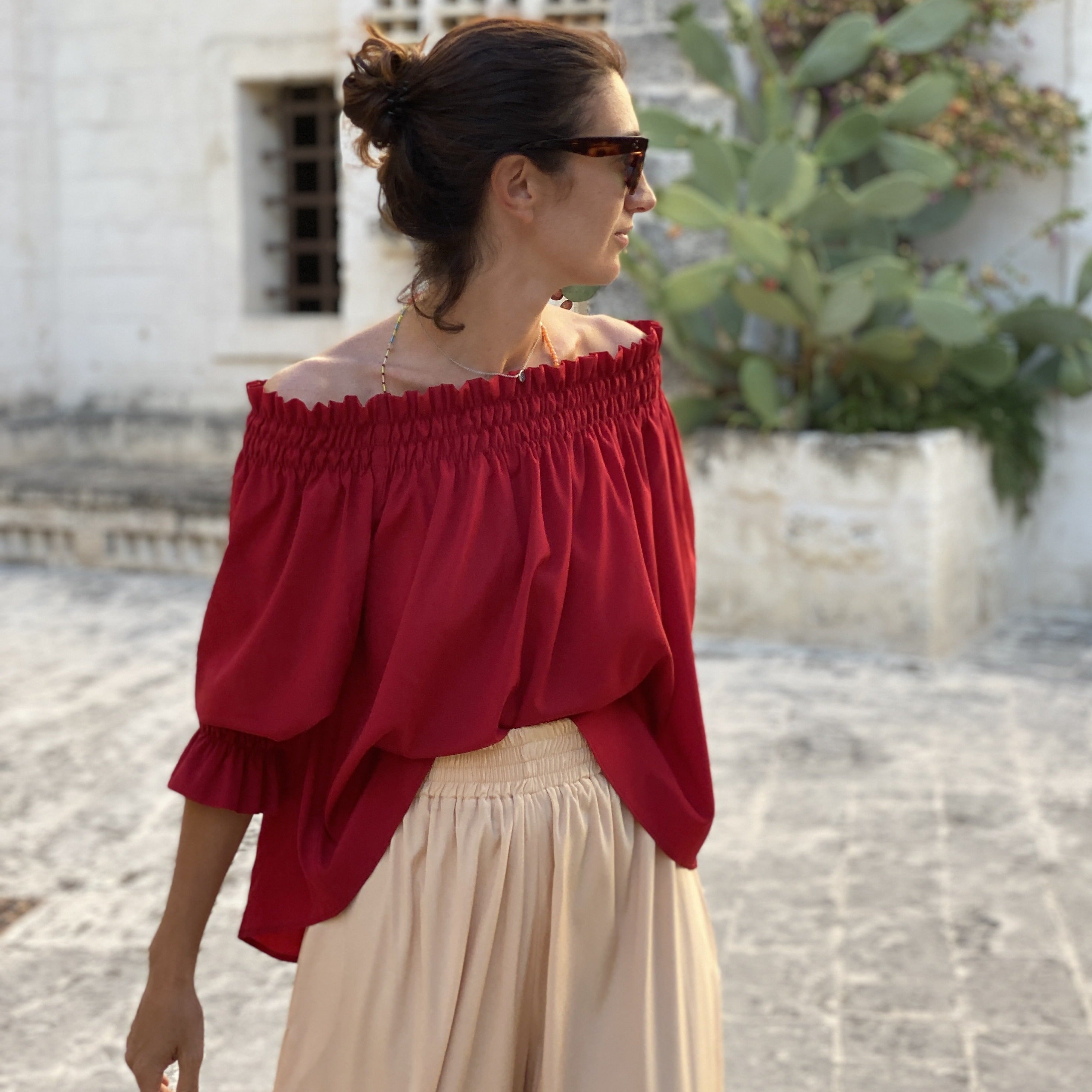 SILK BRISA TOP RED