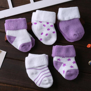Warm Baby Foot Socks / 5 Pair