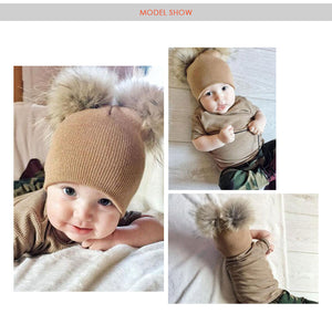 Children Warm Wool Hat Toddler Kids