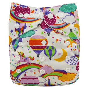 Eco-friendly diapers are a happy baby.