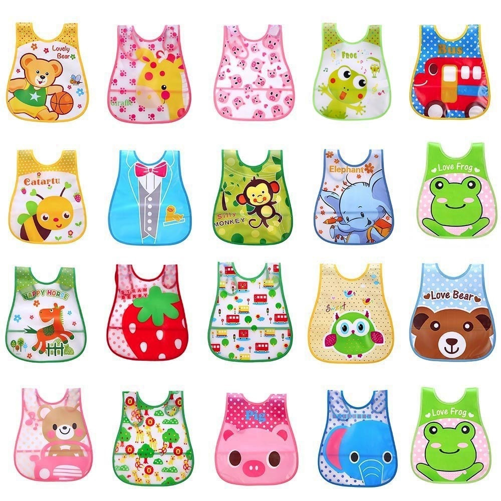 Waterproof Infant Bibs with Cartoon design