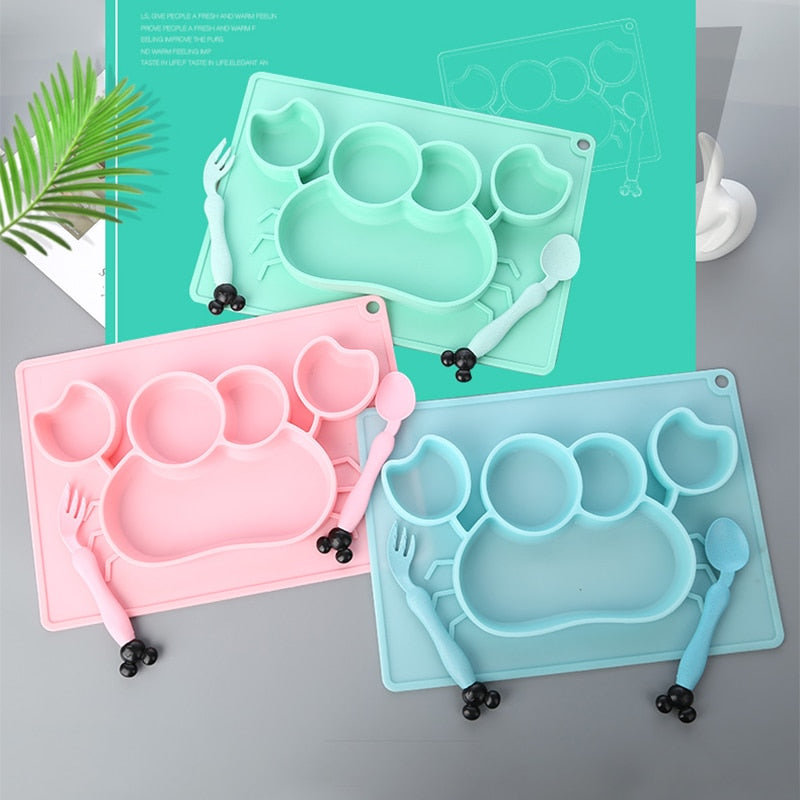 Baby Silicone Dining Plate ( Anti-fall)