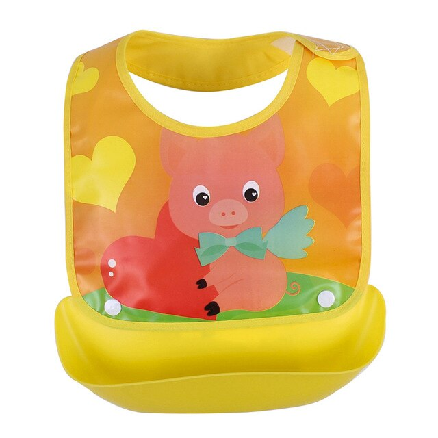Baby Waterproof Feeding Bibs Newborn Cute