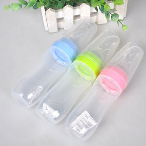 Leak-proof Bottle whis Food Dispensing for Newborn + Baby Spoon