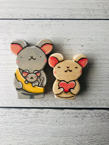 Maurice, Maybelle, and Monroe the Mice