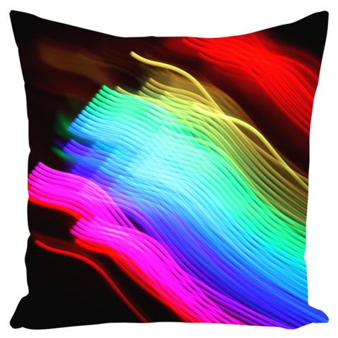 Canvas Cushion 22 x 22 'Rainbow Race'