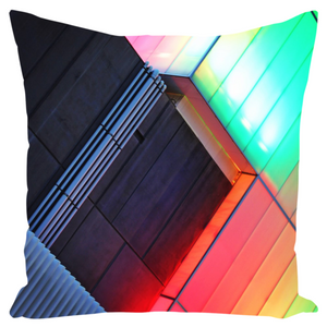 Canvas Cushion 22 x 22 'Light Bricks'