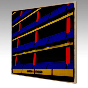 Wood Art Print 'Parking'