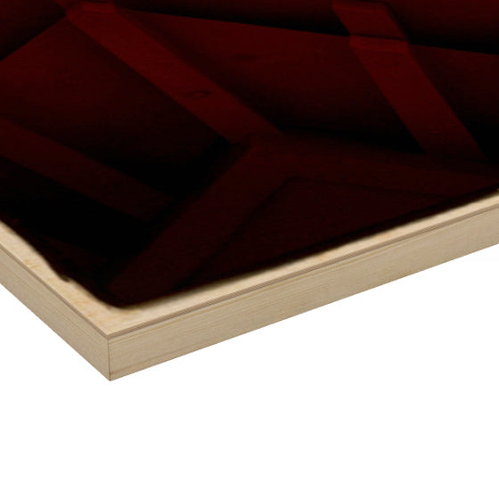 Wood Art Print 'Red Roof'