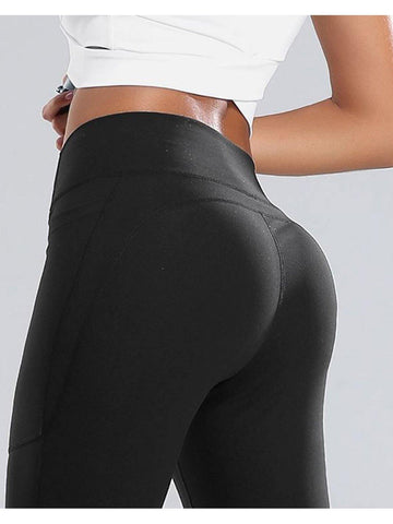 Pocket Yoga Leggings Black - NibbanaAU