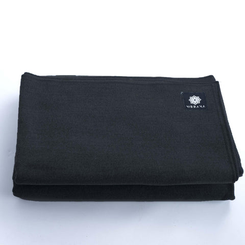 Nibbana Yoga Blanket Dark Grey (4517313806378)