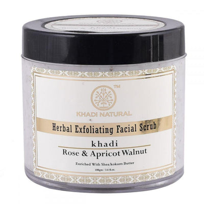 Khadi Natural Apricot & Walnut Cream Scrub with Rose - 100g (4637282697258)