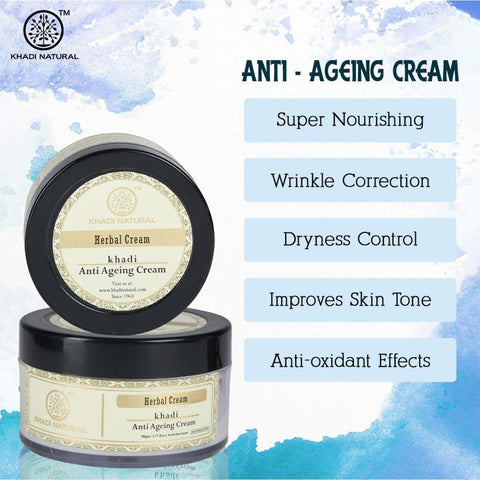 Khadi Natural Herbal Anti Ageing Cream (4637279387690)