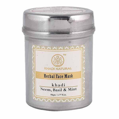 Khadi Natural Neem, Basil & Mint Face Pack(Anti Acne) (4637284106282)