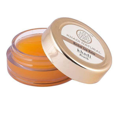 Khadi Natural Peach Lip Balm - With Beeswax & Honey (4637285974058)