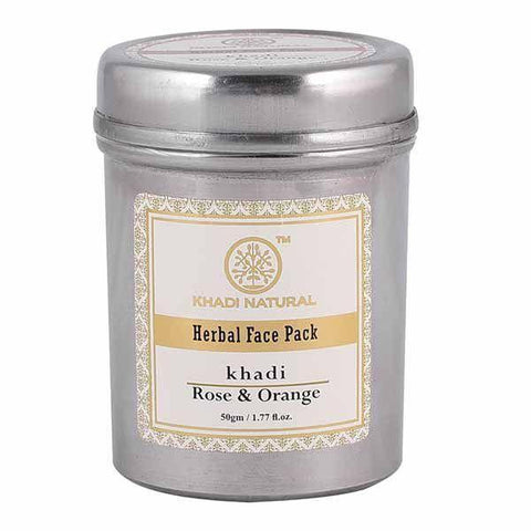 Khadi Natural Rose & Orange Face Pack (4637285253162)