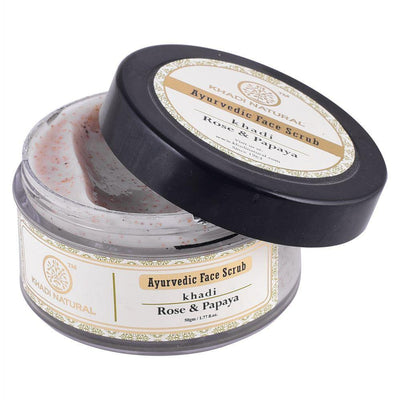 Khadi Natural Rose & Papaya Face Scrub (4637280829482)