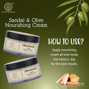 Khadi Natural Sandal & Olive Face Nourishing Cream With Sheabutter (4637270114346)