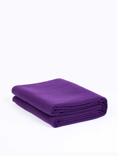 Top Quality Yoga Mats and Accessories nibbana-yoga-blanket-purple 1
