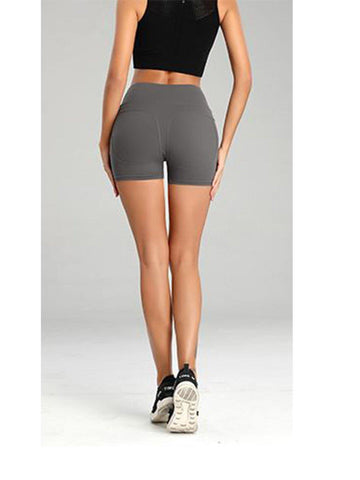 Nibbana Asana Yoga Shorts Grey