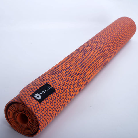 Top Quality Yoga Mats and Accessories nibbana-ace-thin-orange-yoga-mat-2mm 4