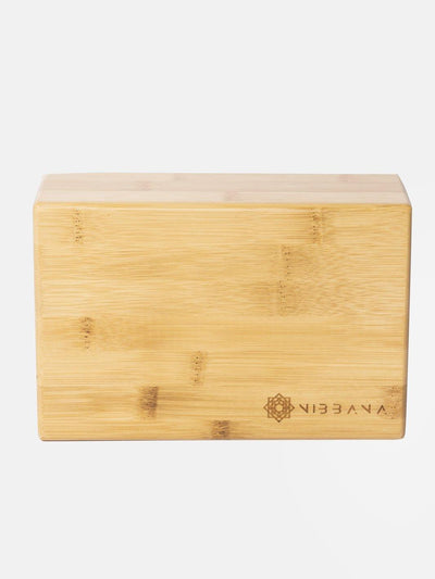 Top Quality Yoga Mats and Accessories nibbana-bamboo-yoga-block 1 (4517289295914)