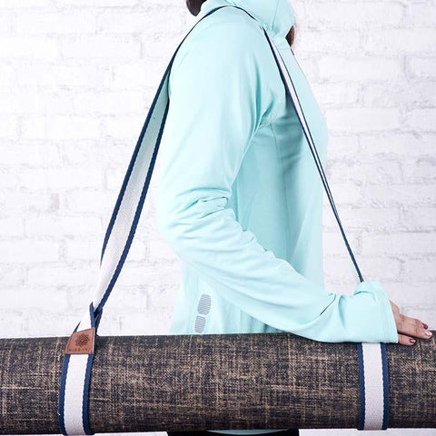 Top Quality Yoga Mats and Accessories nibbana-yoga-mat-carry-strap-blue 2 (4517301551146)