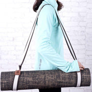 Nibbana Yoga Mat Carry Strap Coffee White