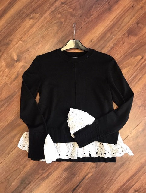 Flamant Rose Jumper In Black