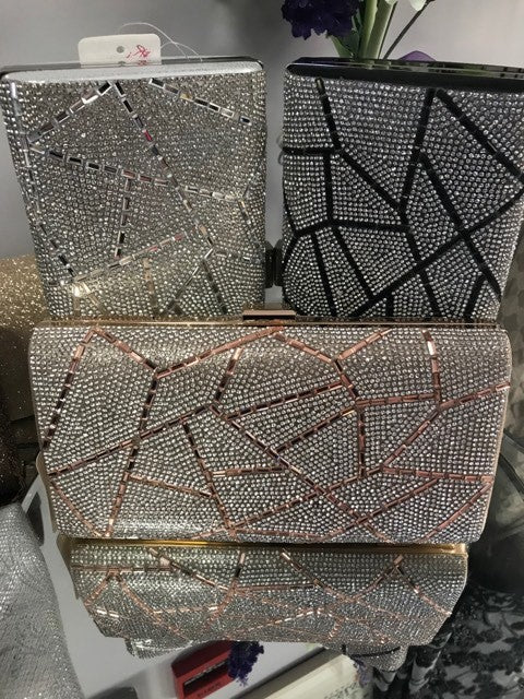 Inspired Clutch Bag With Sequin Detailing In Nude