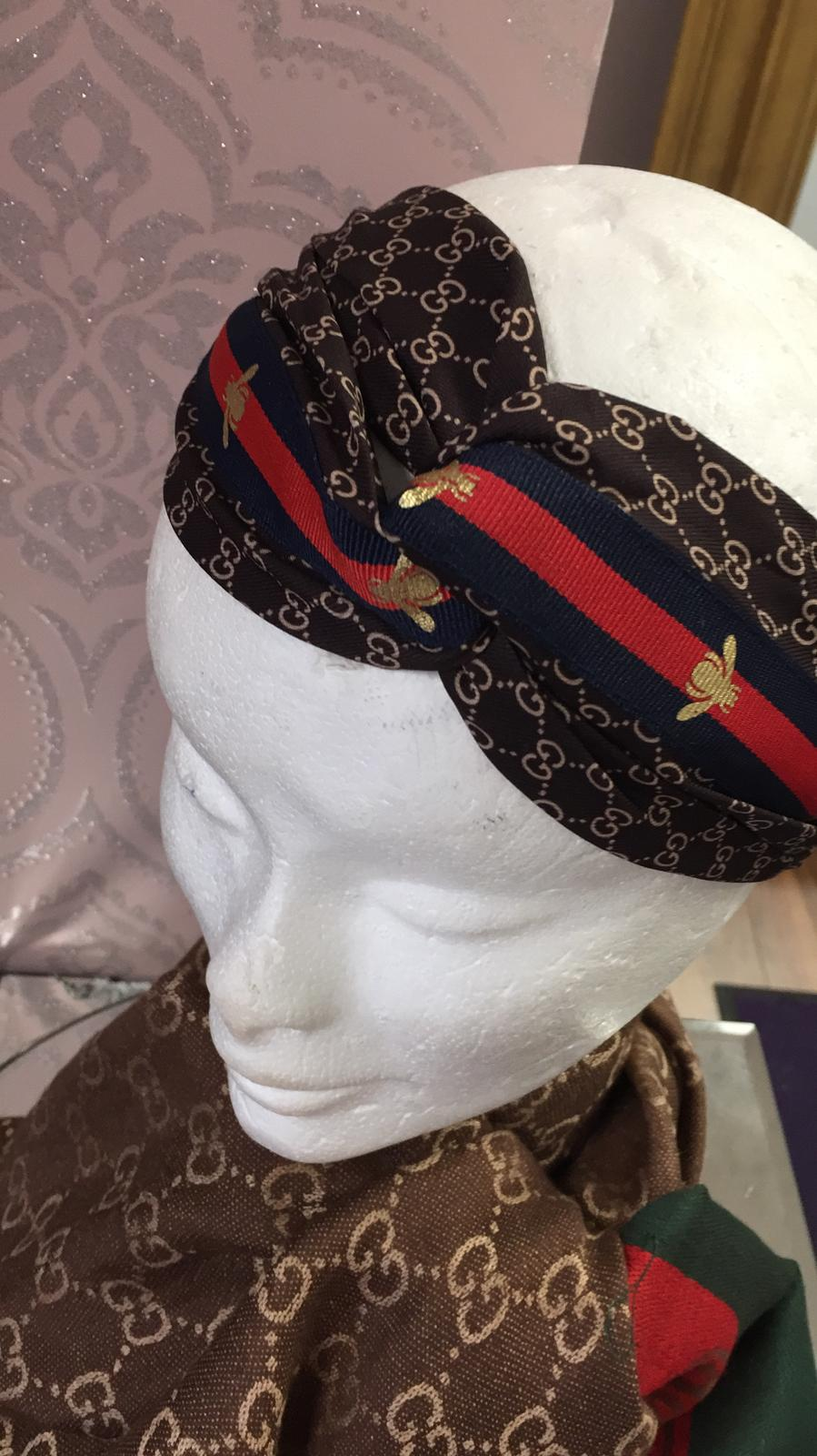 Designer Inspired Gucci Headband In Brown
