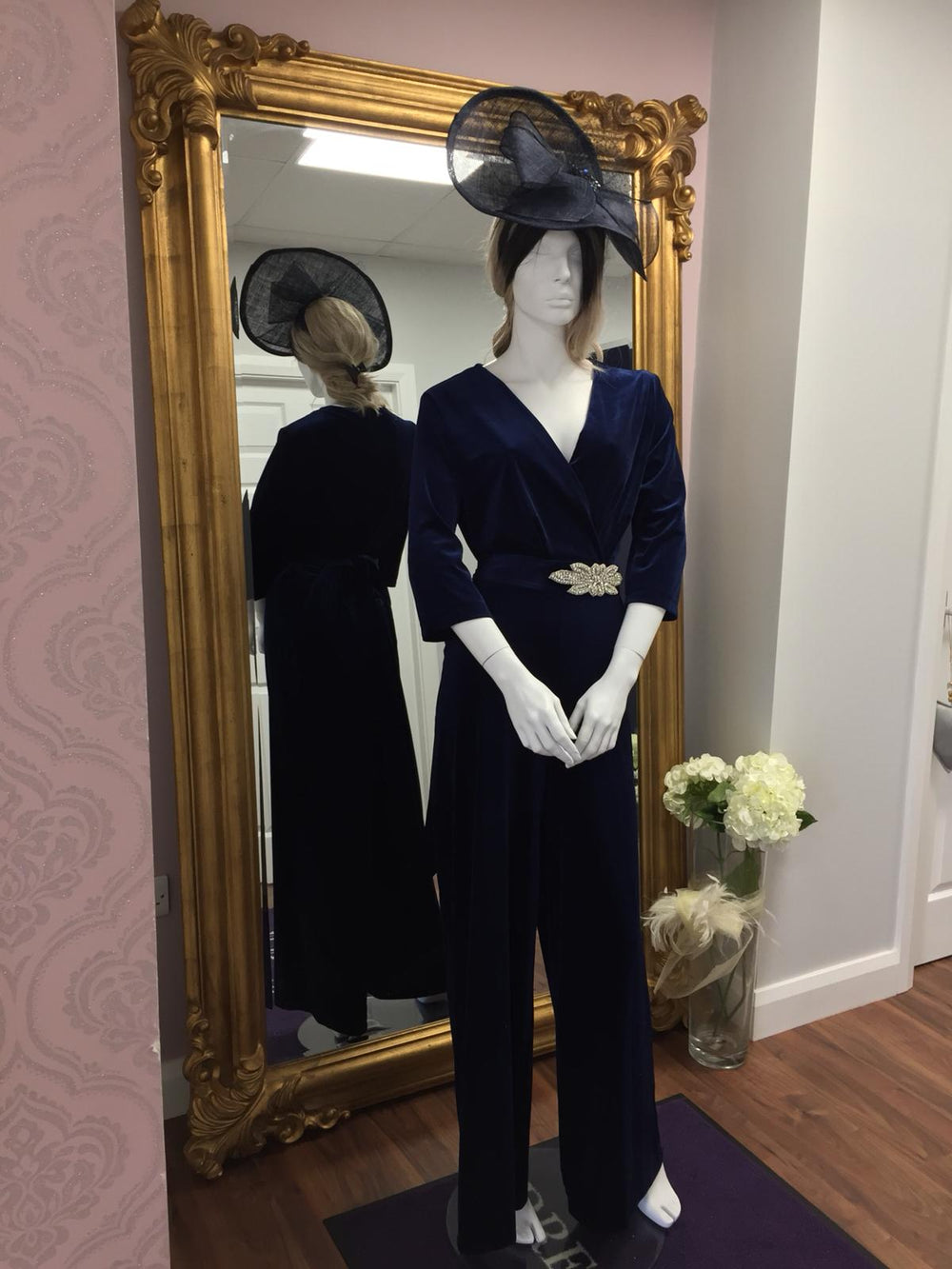 So Amazing Royal Blue Belted Jumpsuit