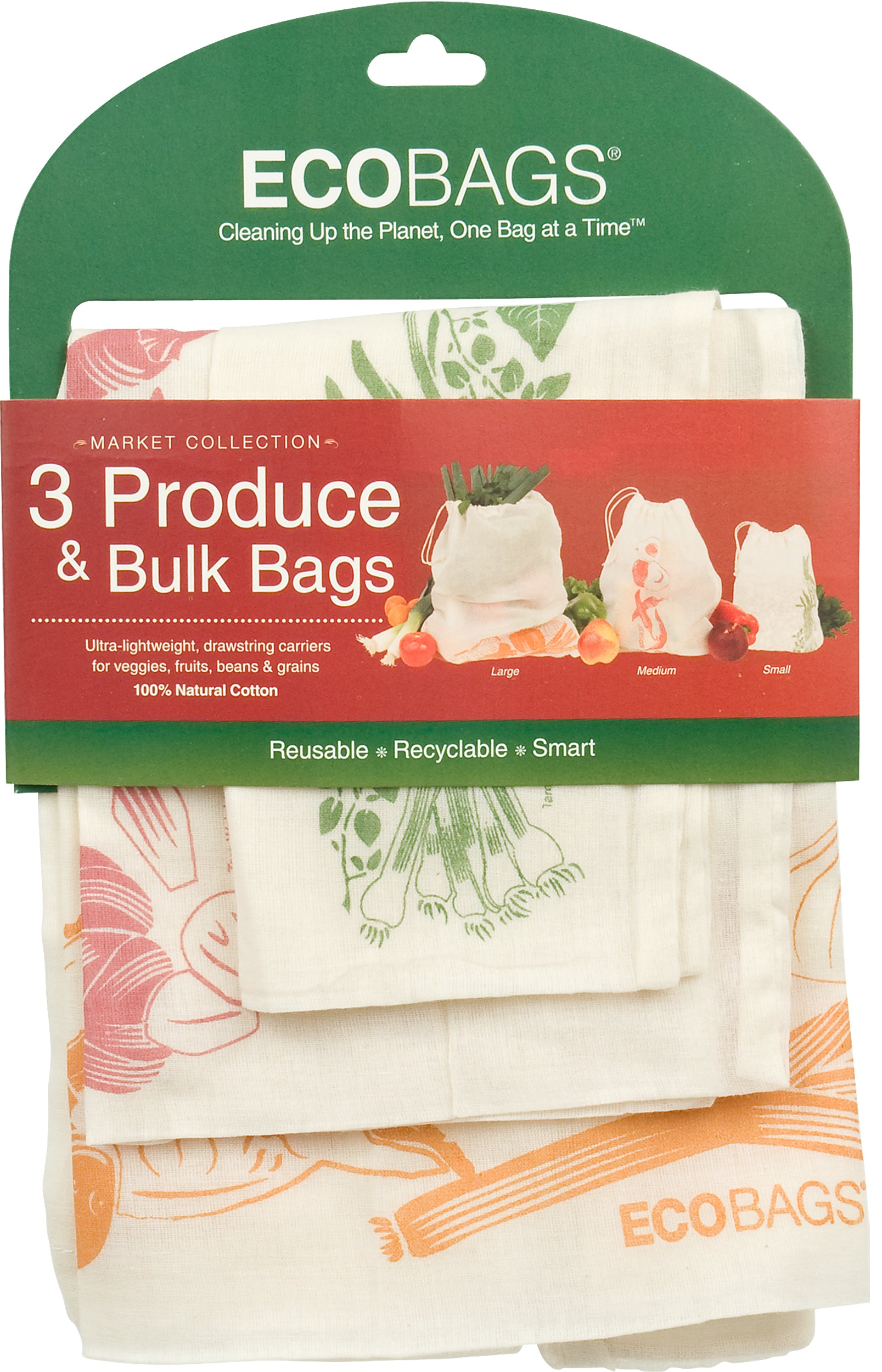 Set of 3 Reusable Produce & Bulk Bags