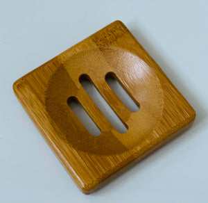 Polished bamboo soap dish