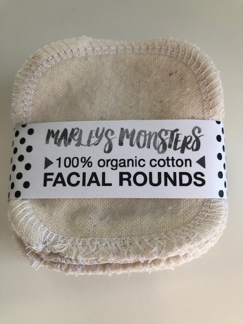 20 Facial Rounds: 100% organic cotton