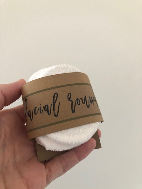 Small Organic Bamboo/Cotton Facial Rounds - Set of 10