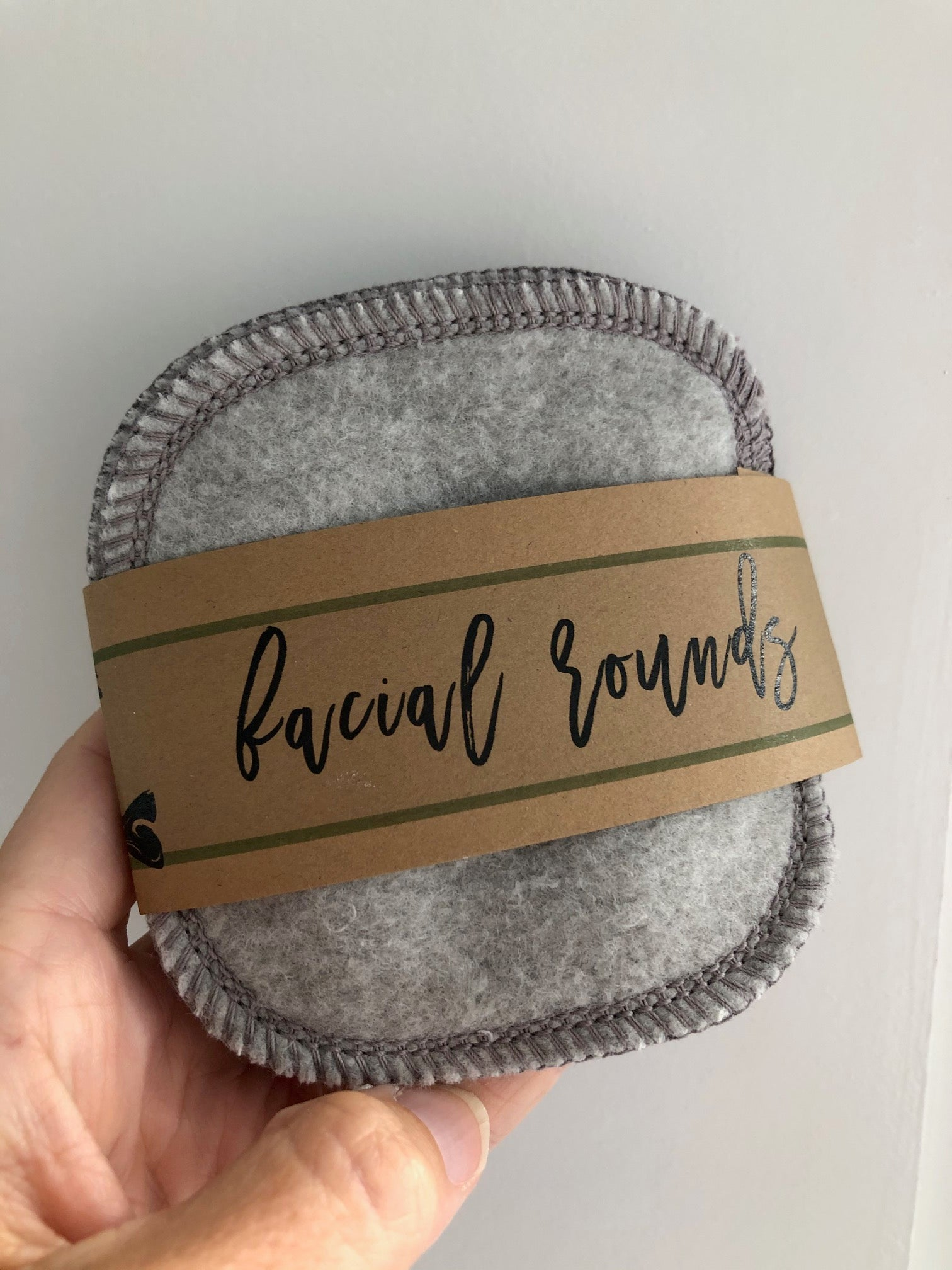 Organic Bamboo/Cotton Facial Rounds - Grey