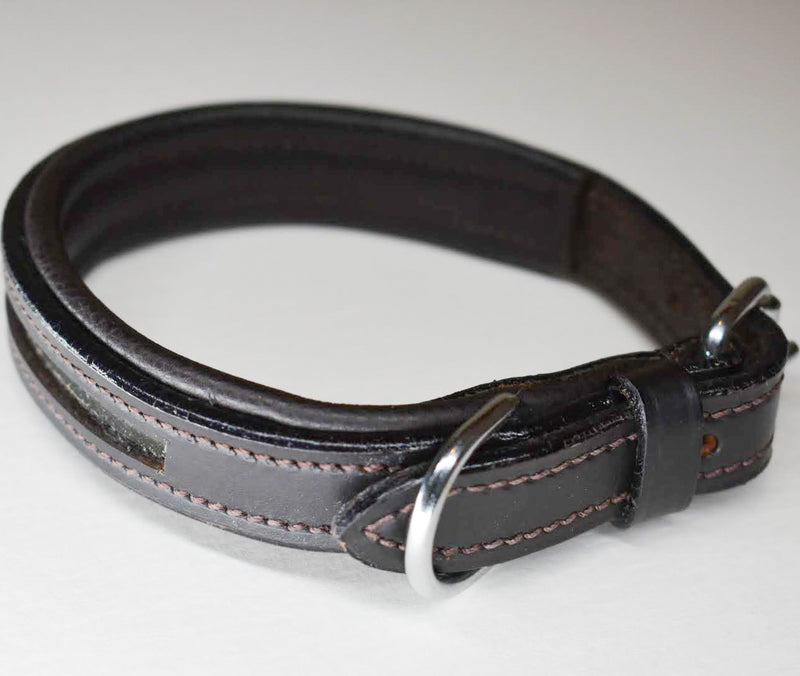 Leather Empty Channel Dog Collars - Browbands UK
