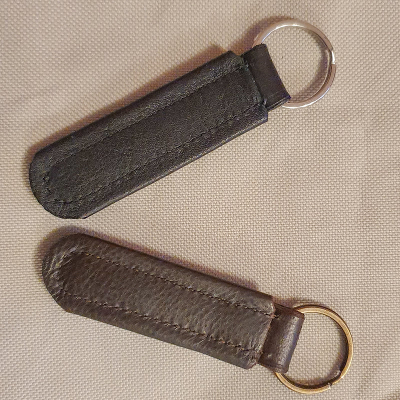 Leather Empty Channel Keyrings - Browbands UK