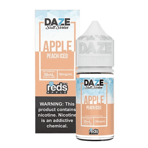 7 Daze Salt Series Vape Juice - Red's Apple Peach Iced
