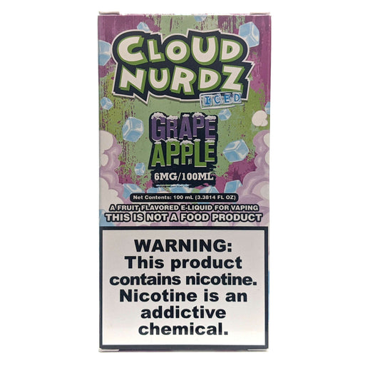 Cloud Nurdz Vape Juice - Grape Apple Iced